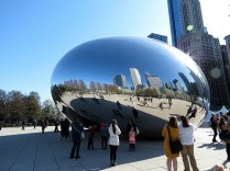 The Bean! It's actual name is Cloud Gate.